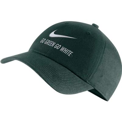 Michigan State Nike Men's H86 Swoosh 'Go Green Go White' Adjustable Hat