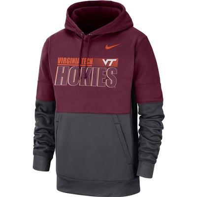 Virginia Tech Nike Men's Therma Hoodie Pullover