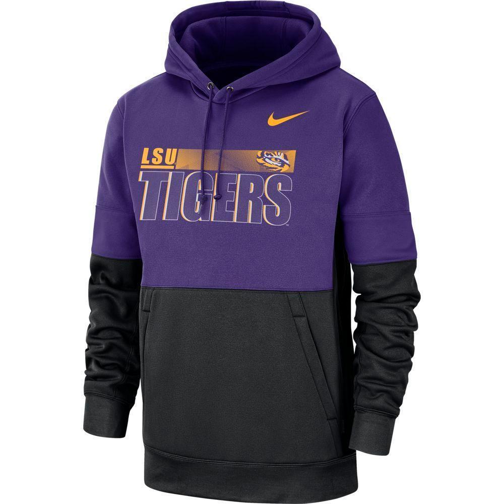 Lsu Nike Men's Therma Hoodie Pullover