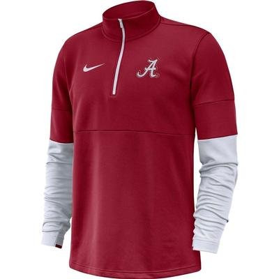 Alabama Nike Men's Therma Half Zip Top CRIMSON