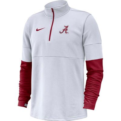 Alabama Nike Men's Therma Half Zip Top WHITE