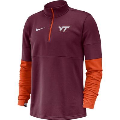 Virginia Tech Nike Men's Therma Half Zip Top