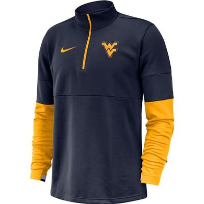 West Virginia Nike Men's Therma Half Zip Top