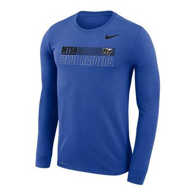 MTSU Nike Men's Legend Sideline Long Sleeve Tee