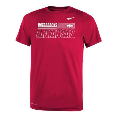 Arkansas Nike Youth Legend Sideline Short Sleeve Tee