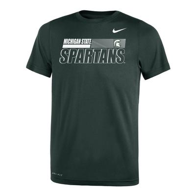 Michigan State Nike Youth Legend Sideline Short Sleeve Tee