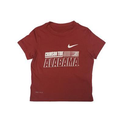 Alabama Nike Toddler Sideline Legend Dri-Fit Tee