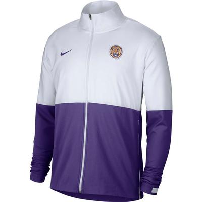 LSU Nike Men's Woven Full Zip Jacket