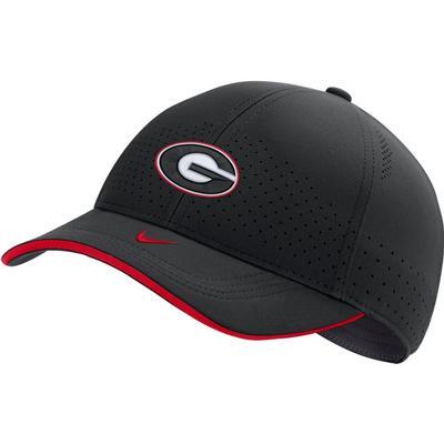 Georgia Nike Men's Sideline Aero L91 Adjustable Hat