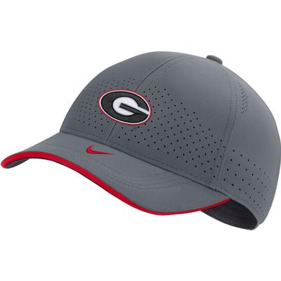 Georgia Nike Men's Sideline Aero L91 Adjustable Hat