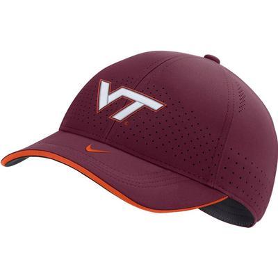 Virginia Tech Nike Men's Sideline Aero L91 Adjustable Hat MAROON