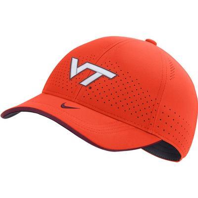 Virginia Tech Nike Men's Sideline Aero L91 Adjustable Hat ORANGE
