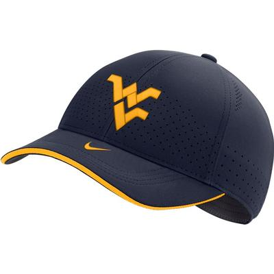 West Virginia Nike Men's Sideline Aero L91 Adjustable Hat
