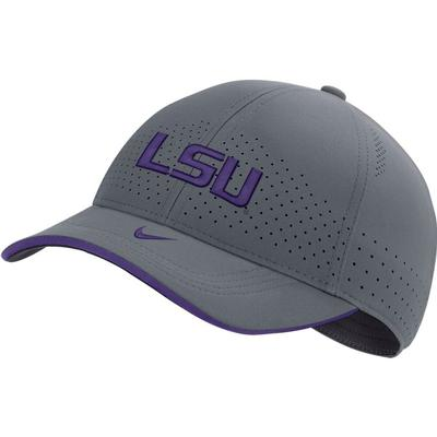 LSU Nike Men's Sideline Aero L91 Adjustable Hat