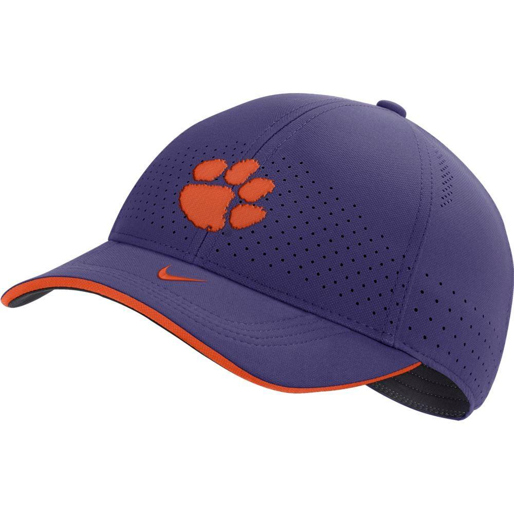 Clemson Nike Men's Sideline Aero L91 Adjustable Hat