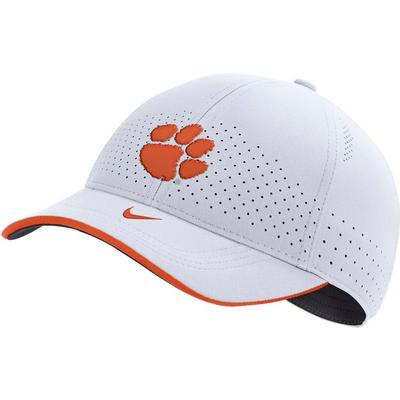 Clemson Nike Men's Sideline Aero L91 Adjustable Hat WHITE