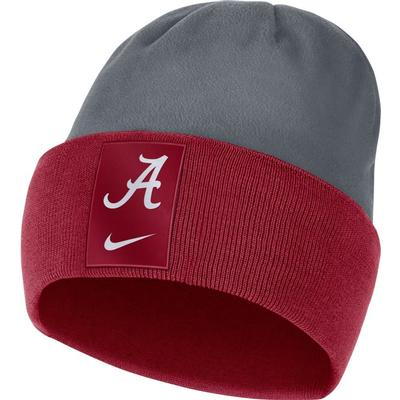 Alabama Nike Men's Sideline Color Block Cuff Dry Beanie