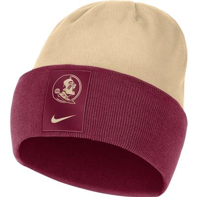 Florida State Nike Men's Sideline Color Block Cuff Dry Beanie