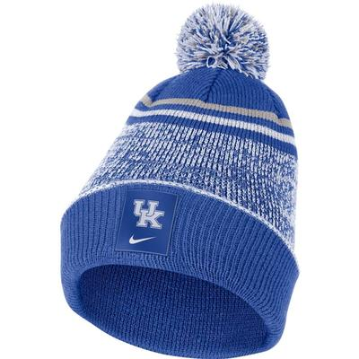 Kentucky Nike Men's Sideline Cuff Beanie with Removable Pom
