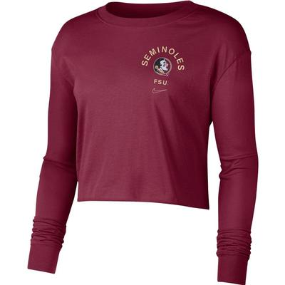 Florida State Nike Women's Dry Cropped Long Sleeve Tee