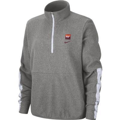 Virginia Tech Nike Women's Therma Fleece Half Zip Pullover