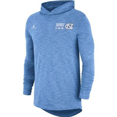UNC Men's Nike Jordan Brand Dri-fit Cotton Slub Long Sleeve Hoody Tee