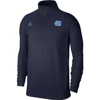 UNC Men's Nike Jordan Brand Coaches Half Zip Pullover