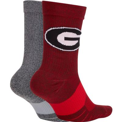 Georgia Nike Men's Home Away Crew Socks