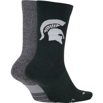 Michigan State Nike Men's Home Away Crew Socks