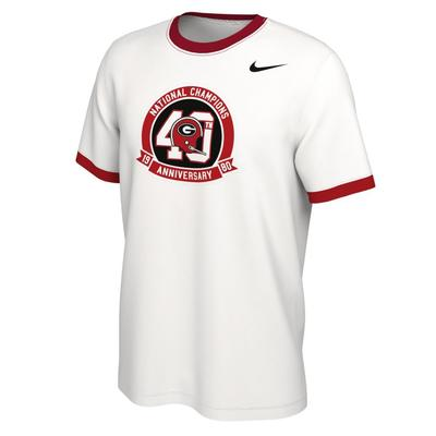 Georgia Nike 1980 National Championship 40th Anniversary Short Sleeve Tee