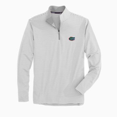 Florida Southern Tide Men's Tonal Stripe Performance 1/4 Zip Pullover