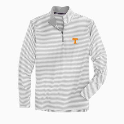 Tennessee Southern Tide Men's Tonal Stripe Performance 1/4 Zip Pullover