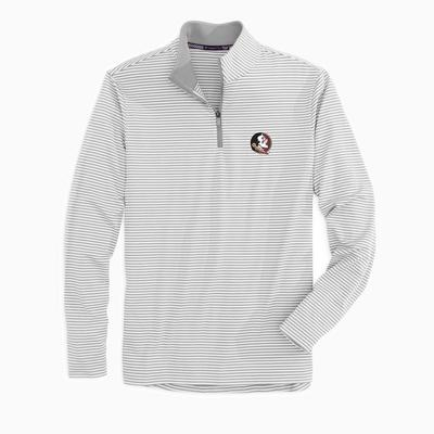 Florida State Southern Tide Men's Tonal Stripe Performance 1/4 Zip Pullover