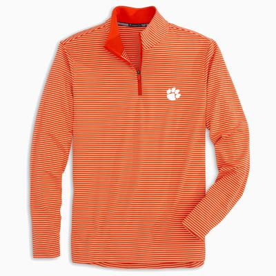 Clemson Southern Tide Men's Tonal Stripe Performance 1/4 Zip