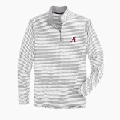 Alabama Southern Tide Men's Tonal Stripe Performance 1/4 Zip Pullover