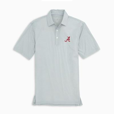 Alabama Southern Tide Men's Brrr Driver Stripe Polo