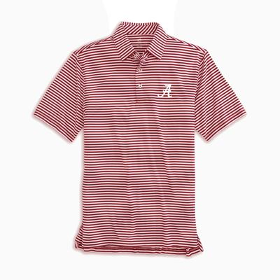 Alabama Southern Tide Men's Driver Stripe Polo