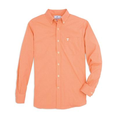 Tennessee Southern Tide Men's Intercoastal Gingham Sport Shirt