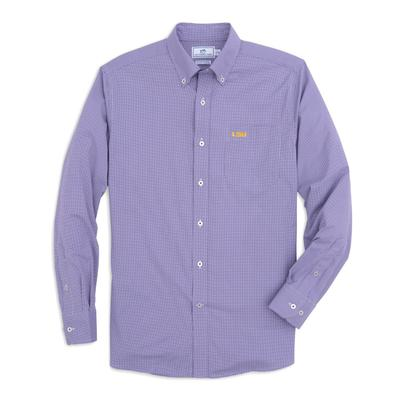 LSU Southern Tide Men's Gingham Sport Shirt