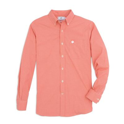 Clemson Southern Tide Men's Gingham Sport Shirt