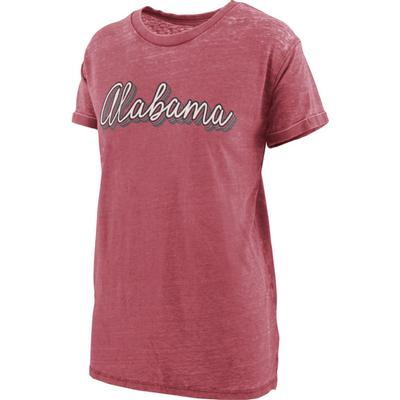 Alabama Women's Pressbox Go Girl Vintage Wash Short Sleeve Tee