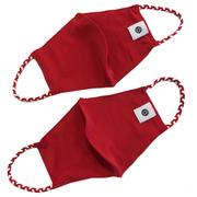 Solid Red And Red White Pomchies Face Mask (2 Pack)