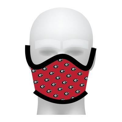 Georgia Bulldogs All Over Logo Face Mask