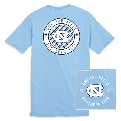 UNC Southern Tide Women's Collegiate Palmetto Circle Design Tee