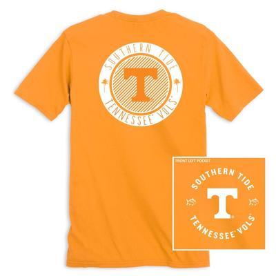Tennessee Southern Tide Women's Collegiate Palmetto Circle Design Tee
