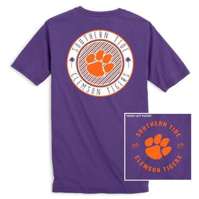 Clemson Southern Tide Women's Collegiate Palmetto Circle Design Tee