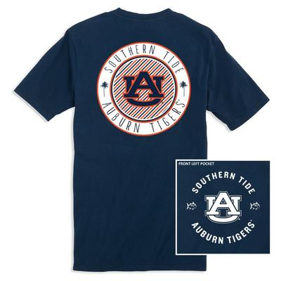 Auburn Southern Tide Women's Collegiate Palmetto Circle Design Tee