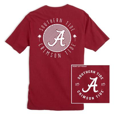Alabama Southern Tide Women's Collegiate Palmetto Circle Design Tee