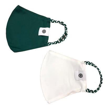 Green and White Pomchies Face Mask (2 Pack)