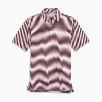 Virginia Tech Southern Tide Men's Driver Stripe Polo